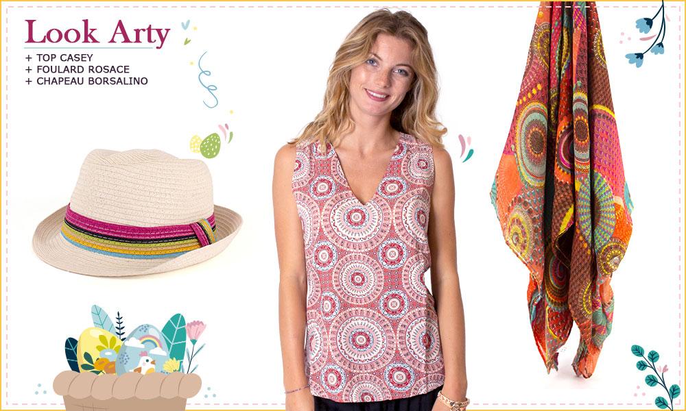 top-imprime-paques-printemps-mode-femme