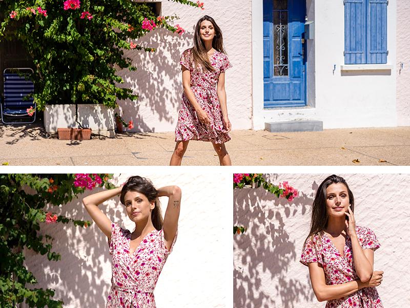 robe courte rose look travail bureau working girl woman mode femme tendance