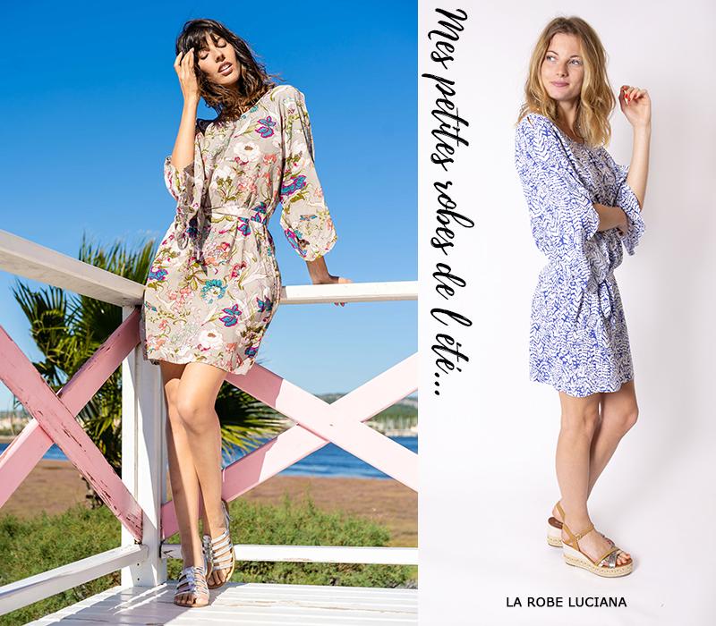 mode femme tendance lookbook idees look robe courte été élégante manches longues