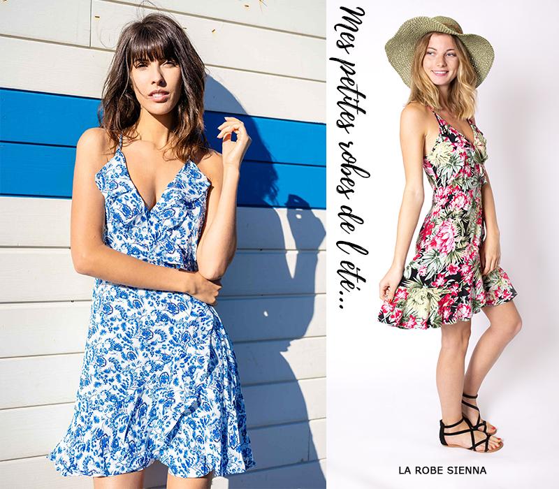 mode femme tendance lookbook idees look robe courte été sexy fleurs