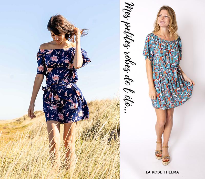 mode femme tendance lookbook idees look robe courte été fleurs champêtre