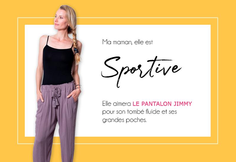 mode femme fête des mères pantalon chic sport tendance cadeau
