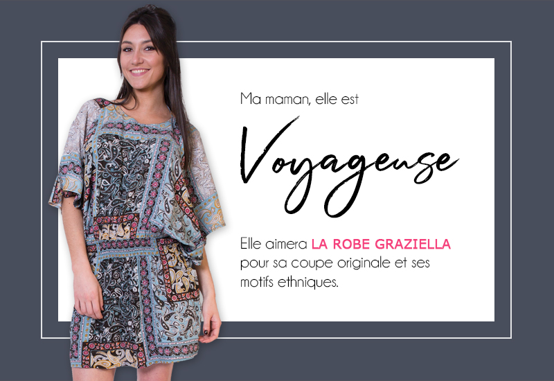 mode femme fête des mères robe ethnique voyage tendance cadeau