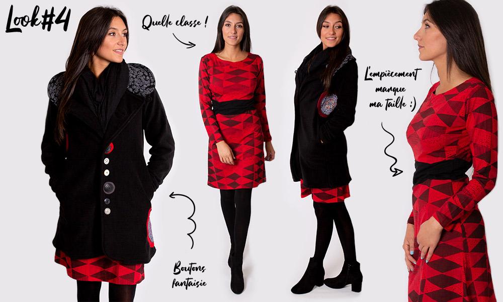 look noel fête mode femme automne hiver