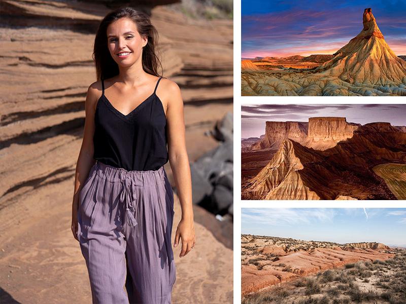 look top noir pantalon fluide gris taupe violet Espagne mode femme vêtements tendance