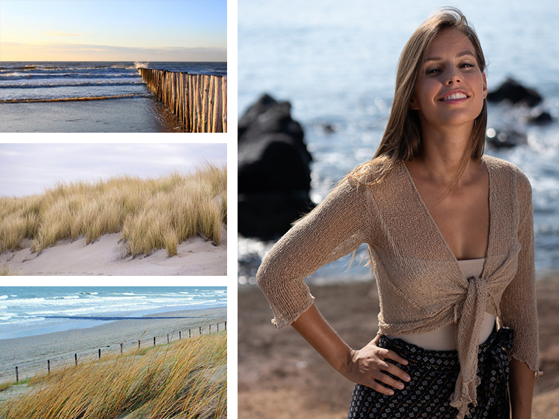 top gilet beige look pays bas plage mode femme vêtements tendance