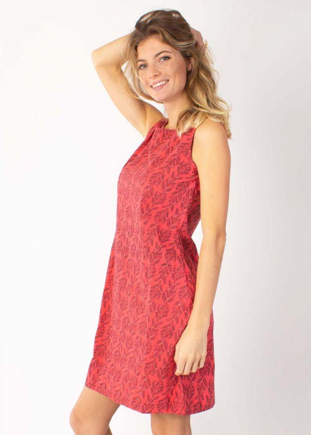robe coton adriana 7 rouge