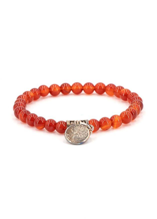 bracelet chakra agate rouge arbre de vie