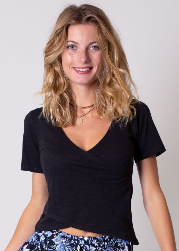 tee-shirt noir uni