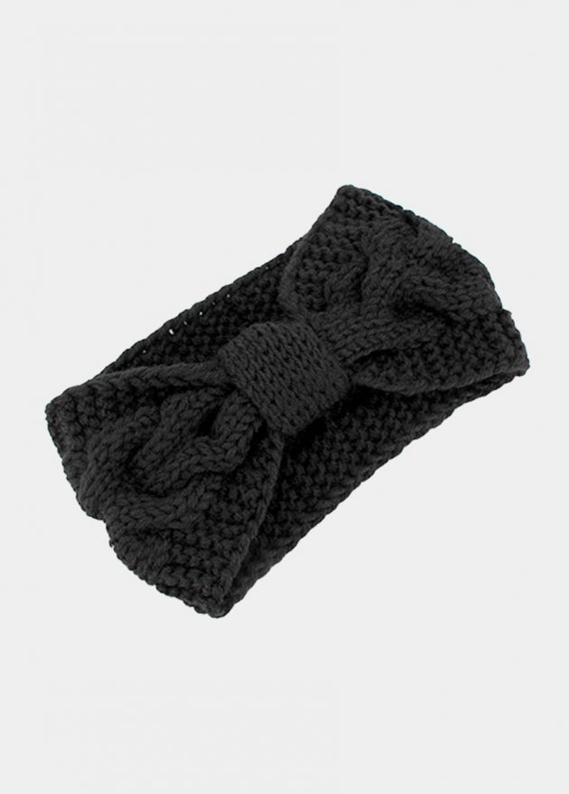 Bandeau Twist headband noir
