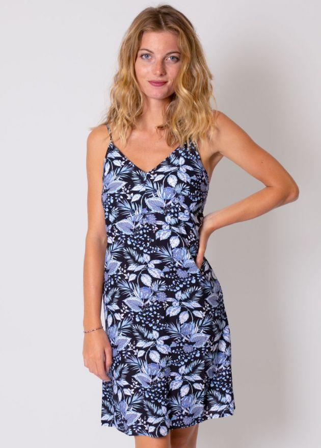 robe-viscose-fleurie-bleu