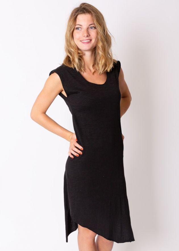 robe courte coton organique noir