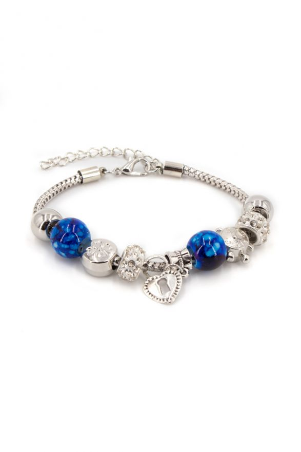 Bracelet fantaisie breloques bleu