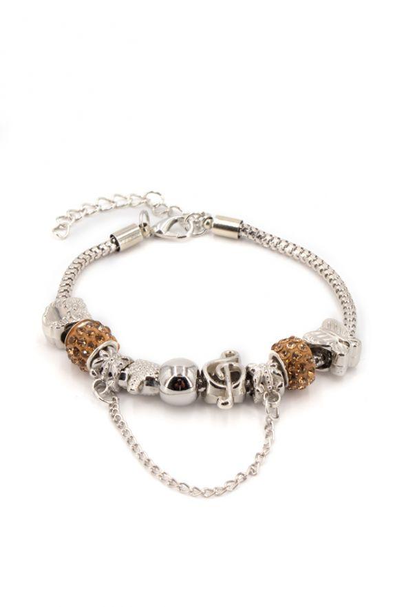 Bracelet fantaisie breloques bronze