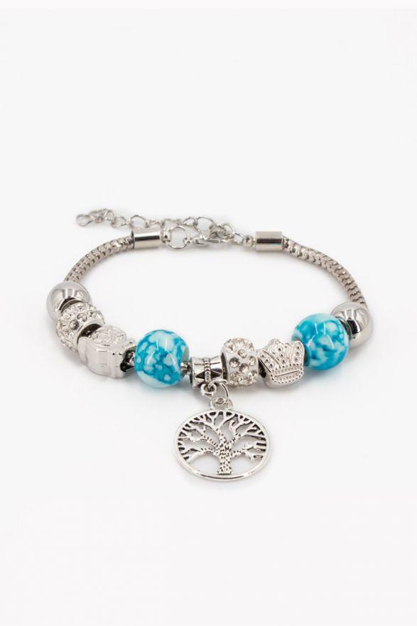 Bracelet fantaisie breloques turquoise
