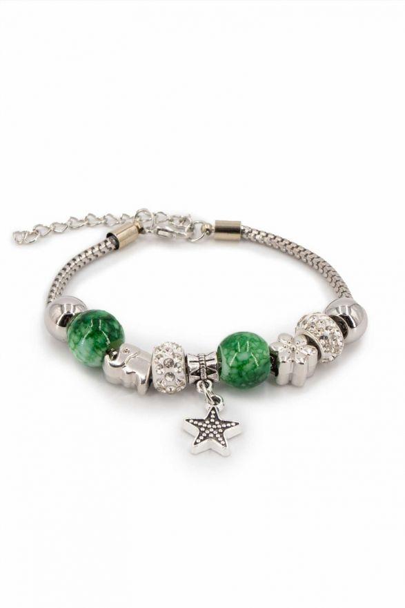 Bracelet fantaisie breloques vert
