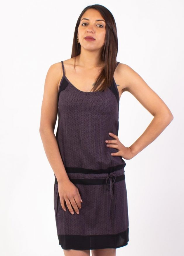 robe viscose légère imprimé gris zoom
