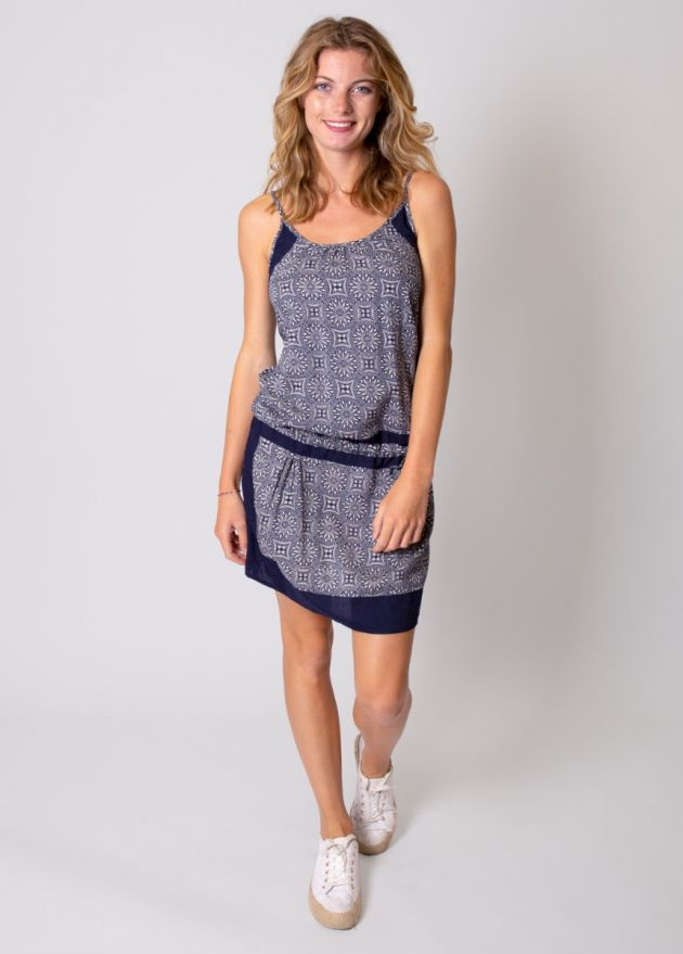 robe-courte-viscose-imprimé-bleu