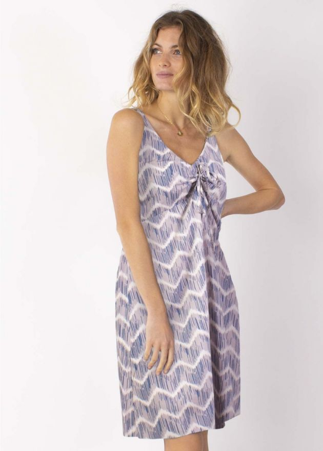 robe courte viscose tie and tye taupe zoom