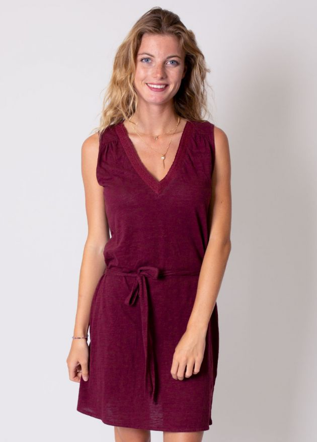 robe coton organique bordeaux zoom