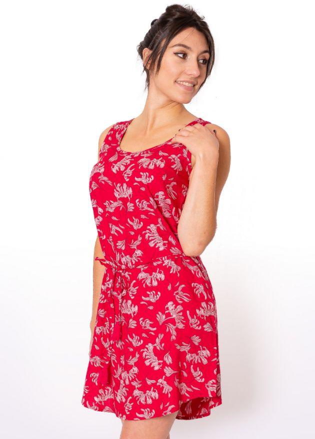robe-courte-viscose-rouge