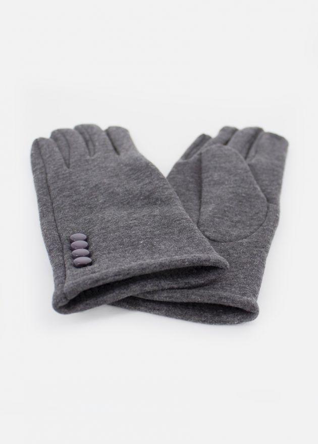 Gants femme gris tactiles hiver face