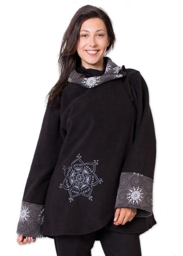 veste polaire femme imprime mandala gris