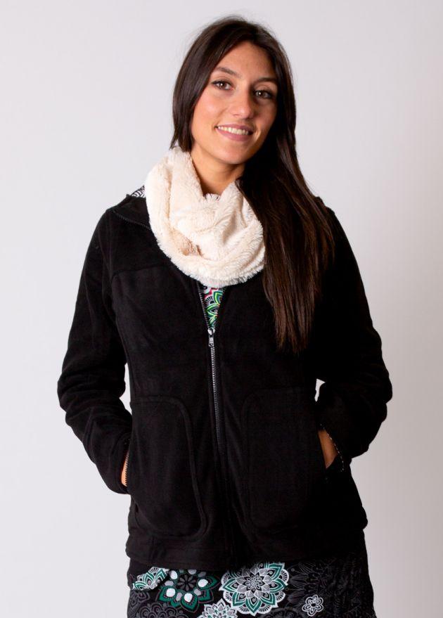 veste polaire courte noire
