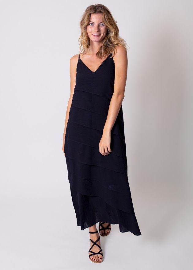 robe-longue-unie-noire