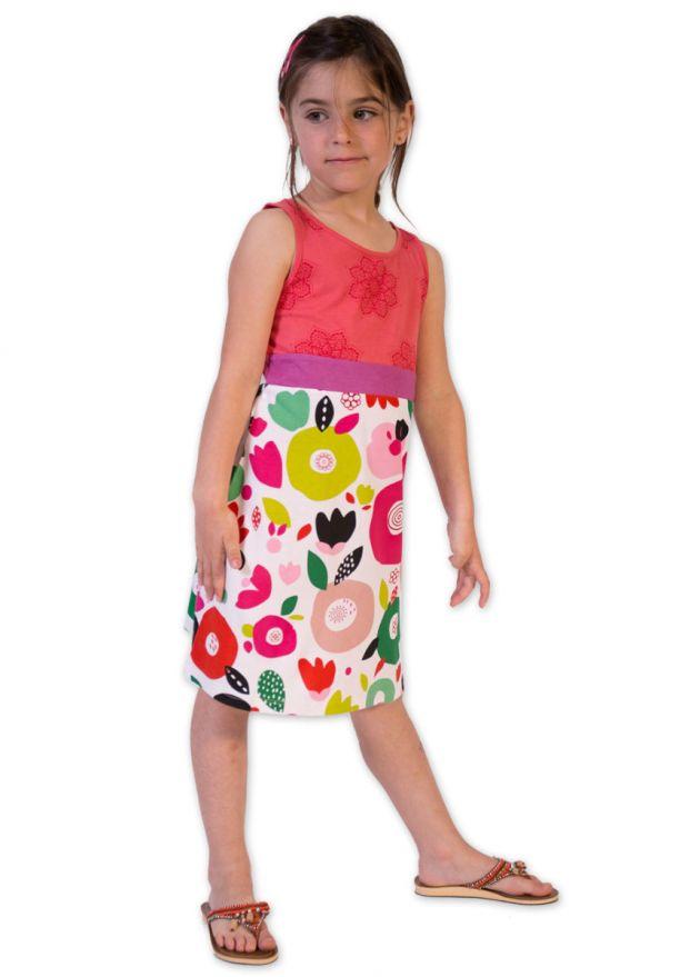 robe courte enfant corail