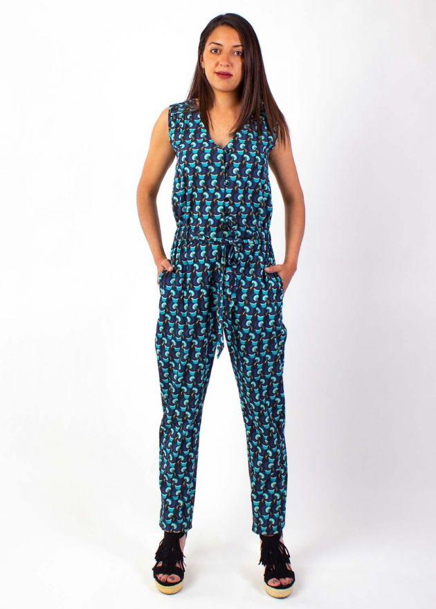 combinaison pantalon femme 100% coton Manoa face