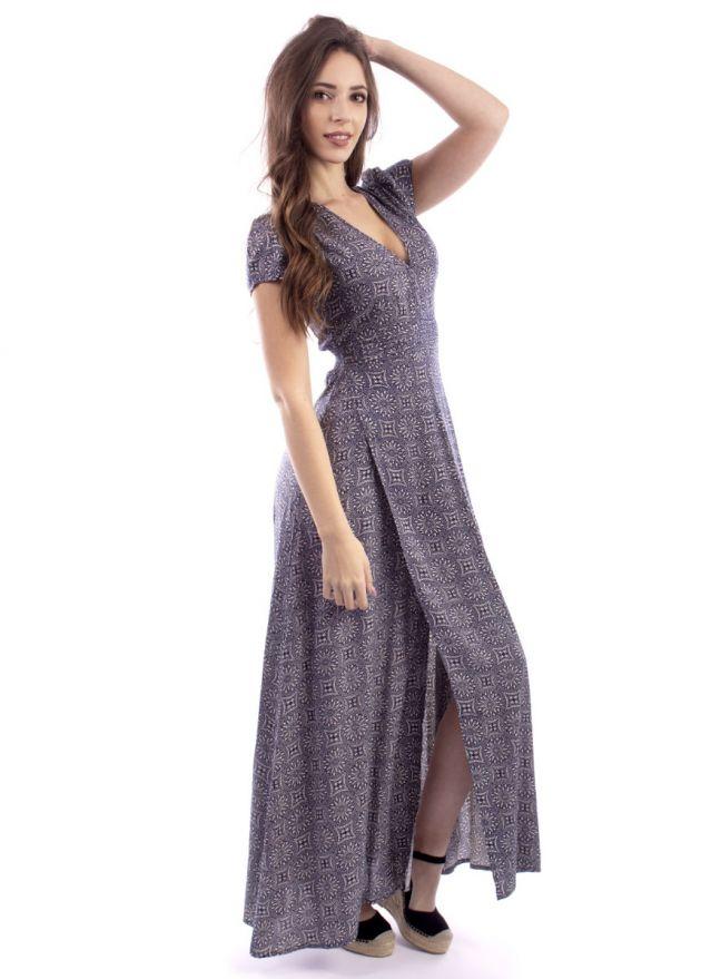 robe-longue-imprimée-marine