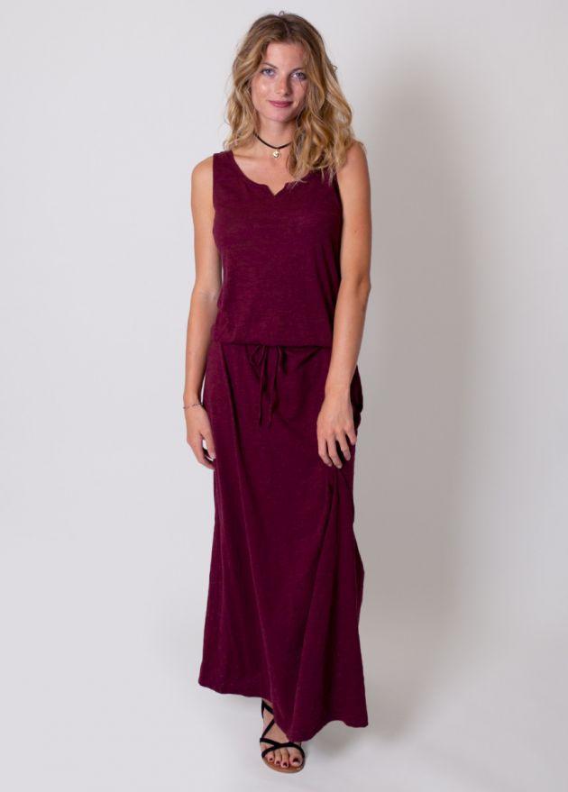 robe longue coton organique face