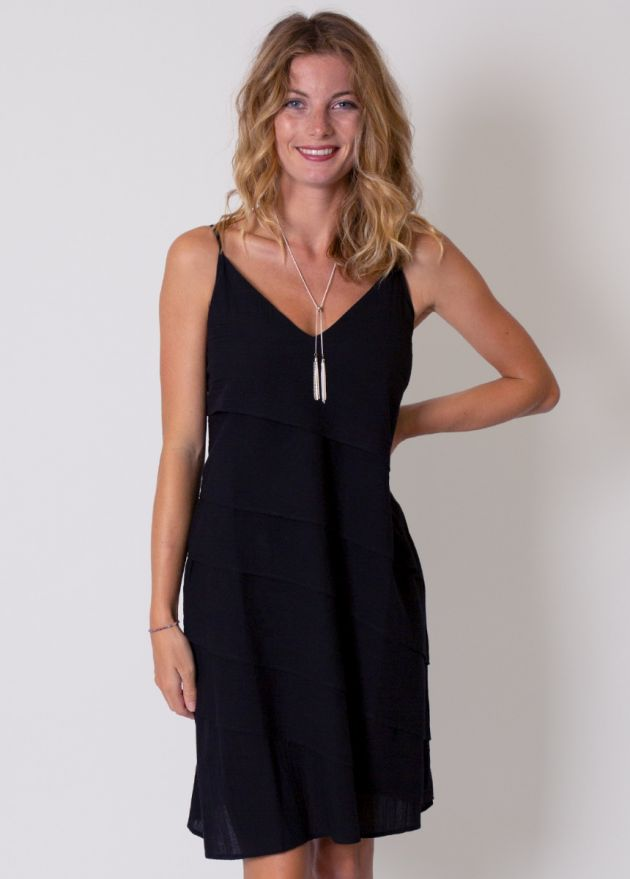 robe noire unie