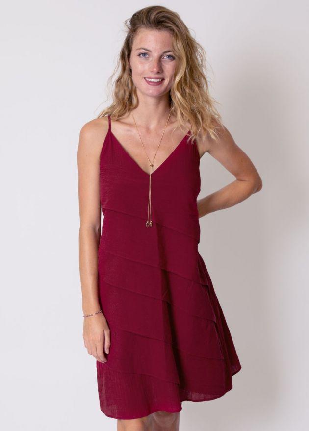 robe courte femme voile de coton