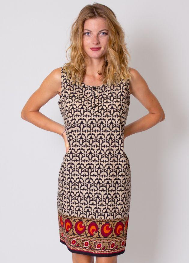 robe courte matiere coton femme col rond