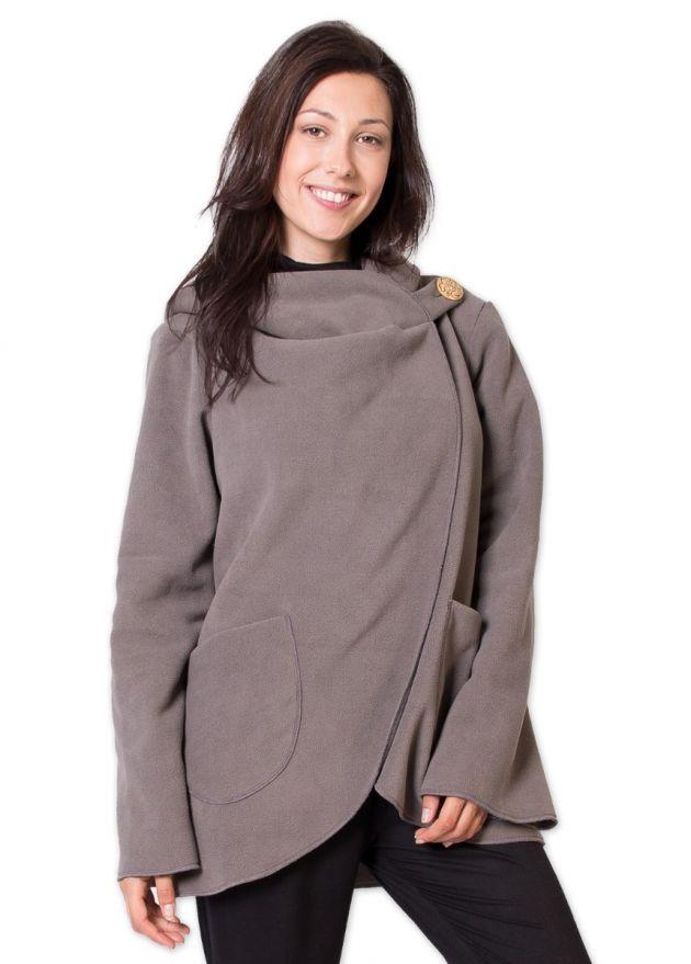veste polaire courte ottawa gris