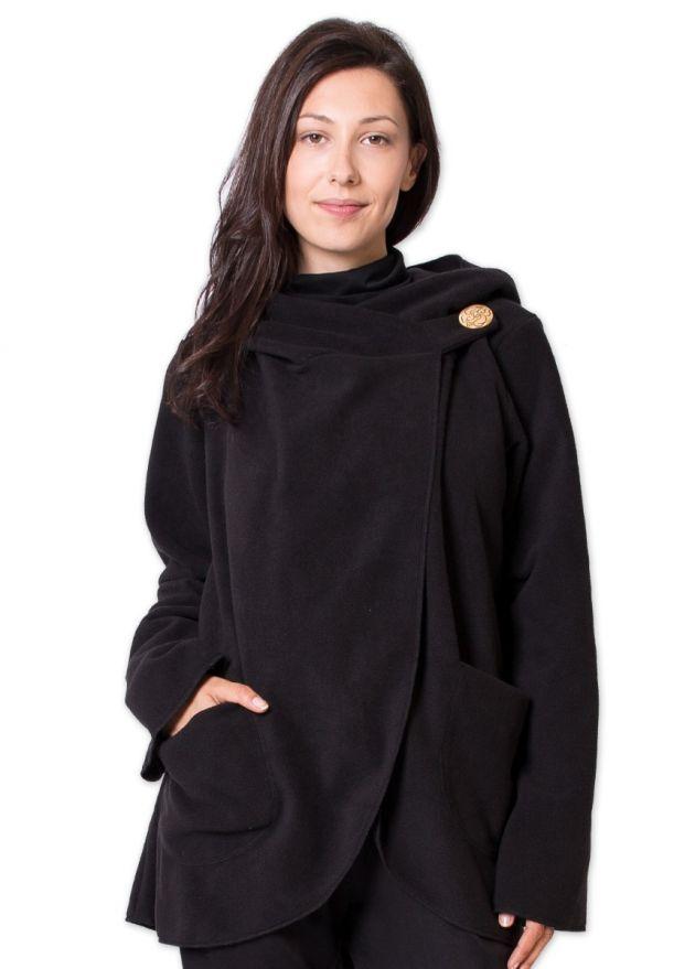 veste matiere polaire courte ottawa noire