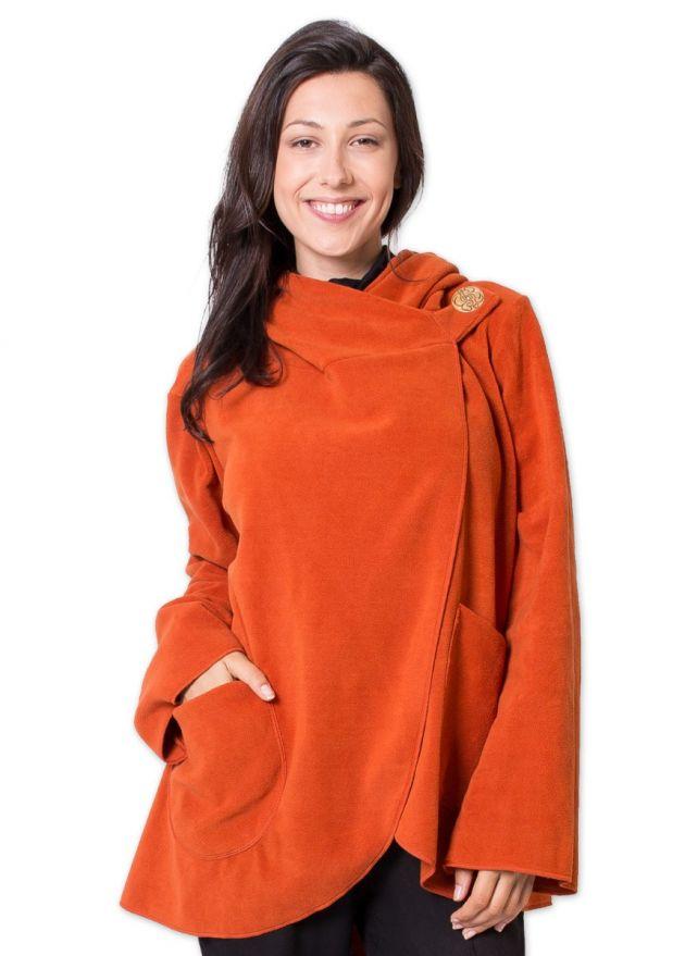 veste matiere polaire courte ottawa orange