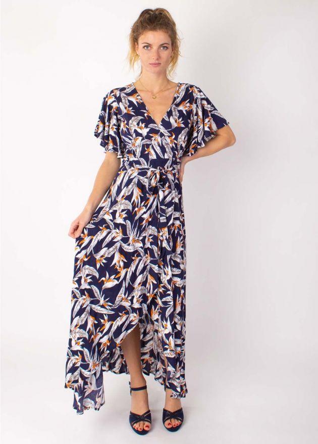 robe longue bohème sakura marine face