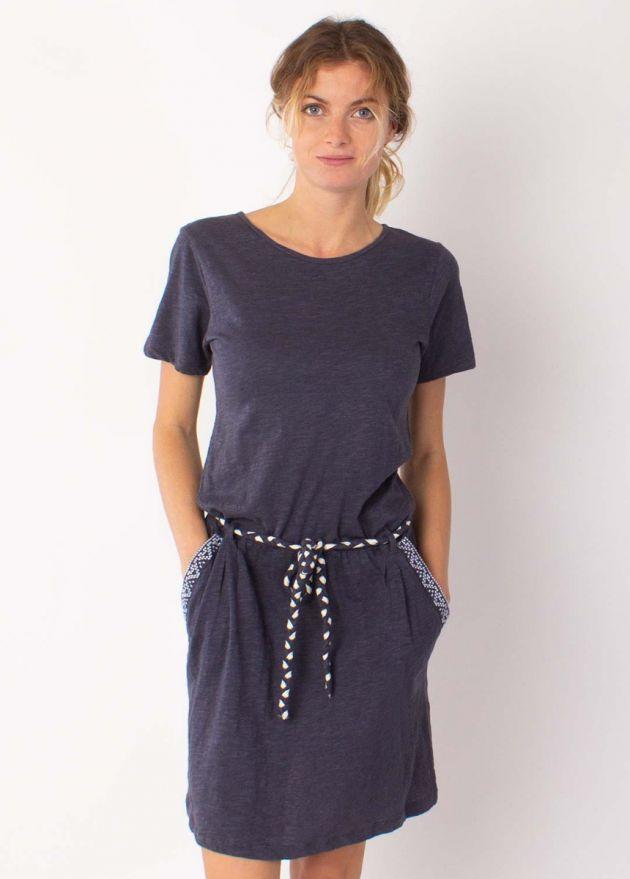 robe coton organique sixtine gris ardoise