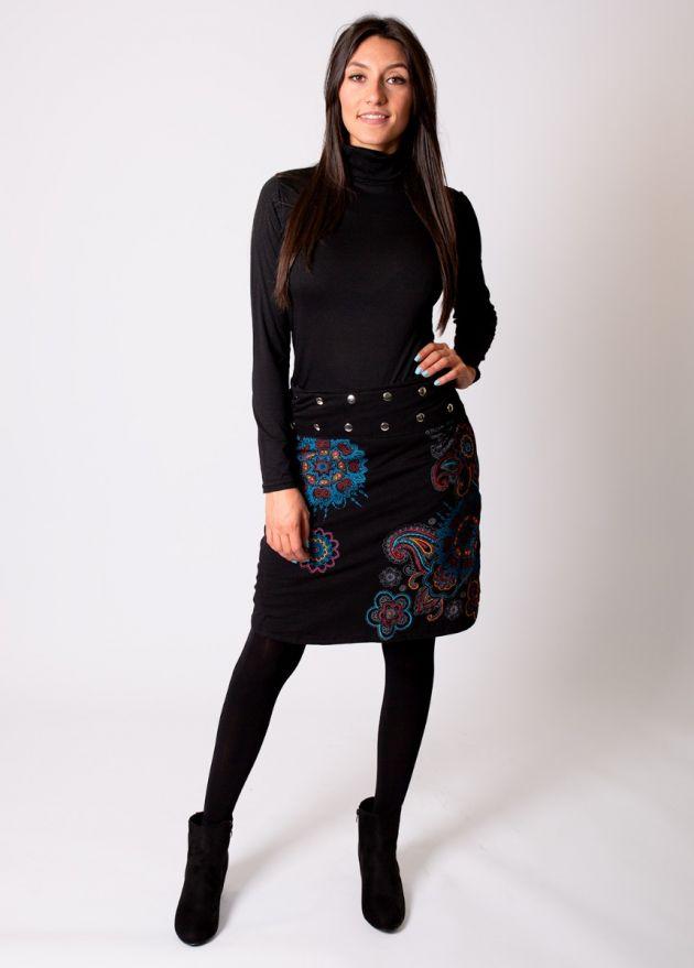 jupe courte femme hiver noire