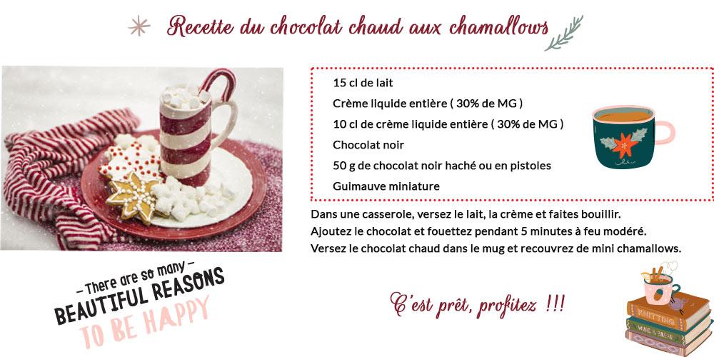 recette chocolat chaud chamallows