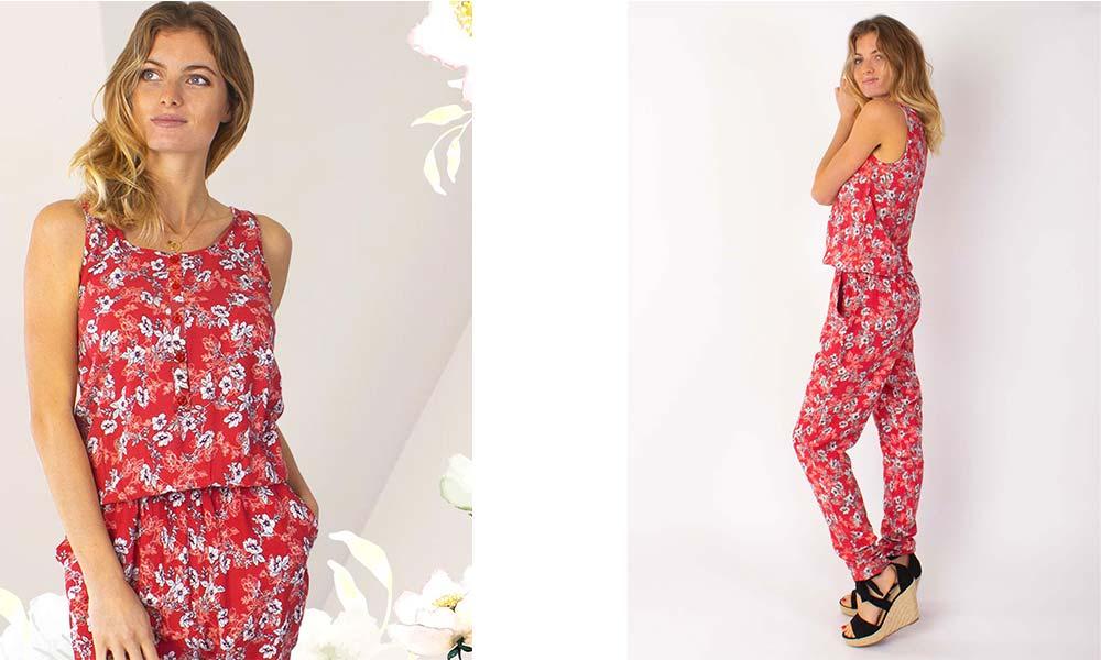 combinaison pantalon fleurie Anny