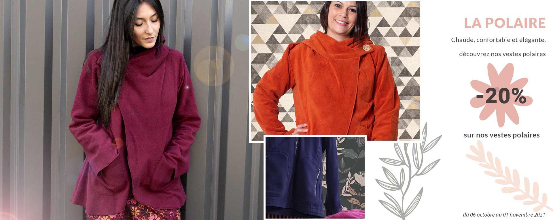 Les vestes polaires promotion 2021 coton du monde vêtements en ligne mode femme ethnique
